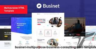 Businet - Multipurpose Business Consulting HTML Template By pixelcurve