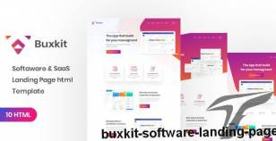 Buxkit - Software Landing Page By ir-tech