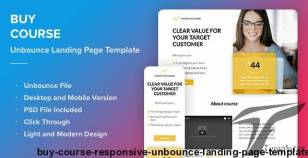 Buy Course - Responsive Unbounce Landing Page Template By landingi_com