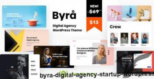 Byra - Digital Agency Startup WordPress By vamtam