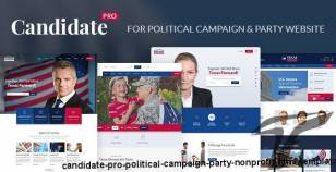 Candidate Pro - Political Campaign, Party, Nonprofit HTML Template