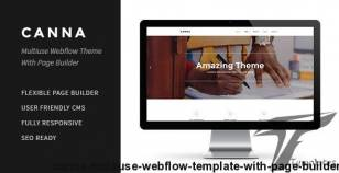 Canna | Multiuse Webflow Template With Page Builder By deothemes