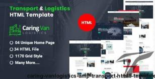 Caring Van-Logistics & Transport HTML5 Template By 24webpro