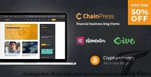 ChainPress | Financial WordPress Business Blog Theme By axiomthemes