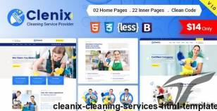 Cleanix - Cleaning Services HTML Template By radiustheme