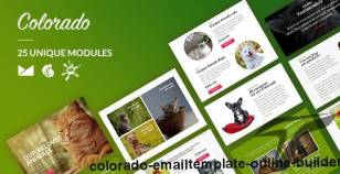 Colorado Email-Template + Online Builder By liveautograph