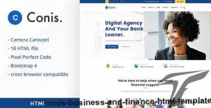 Conis - Business And Finance HTML Template By creativegigs