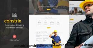 Constrix - Construction & Building WordPress Theme By nunforest
