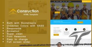 Construction - Construction Business, Building, Industry  Company Template By marketplus
