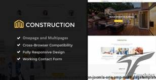 Construction - Ultimate Construction Joomla! One & Multi pageTemplate By codepedant