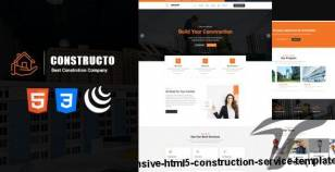 Constructo - Responsive HTML5 Construction Service Template By sbtechnosoft