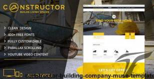 Constructor | Building Company Muse Template By dev-themes