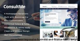 ConsultMe Responsive Business and Finance HTML5 Template By style-themes