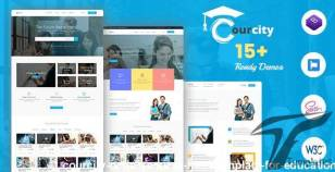 Courcity - Online Course HTML Template For Education By banyantheme