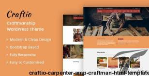 Craftio - Carpenter & Craftman HTML Template By designarc
