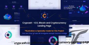 Crypcash - ICO, Bitcoin and Cryptocurrency Landing Page By marvel_theme