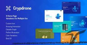 Crypdrone - Multipurpose Cryptocurrency Hosting with WHMCS Template By themelooks