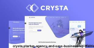 Crysta - Startup Agency and SasS Business WP Theme By sttheme