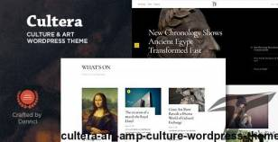 Cultera - Art & Culture WordPress Theme By dannci