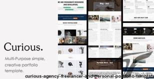 Curious - Agency, Freelancer and Personal Portfolio Template. By frntdev