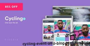Cycling - Event & Blog HTML Template By pixudio