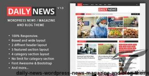 Daily News - WordPress News / Magazine And Blog Theme