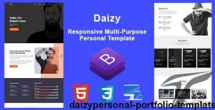 Daizy-Personal Portfolio Template By theme_choices