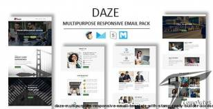 Daze - Multipurpose Responsive Email Template With Stamp Ready Builder Access