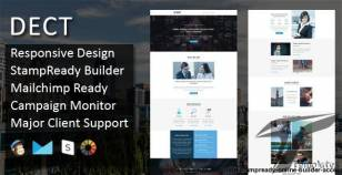 DECT - Multipurpose Responsive Email Template + Stampready Online Builder Access By pennyblack