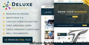 Deluxe Business HTML Template By viaviwebtech