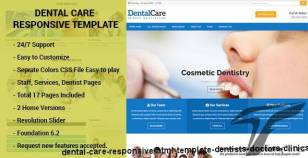 Dental Care - Responsive HTML Template Dentists, Doctors, Clinics By webfulcreationsvision