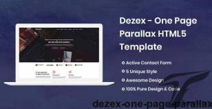 Dezex - One Page Parallax By herocoders