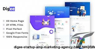 Digee - Startup & Marketing Agency HTML Template By johanspond