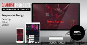 DJ Artist Promo Site Muse Template By k-project