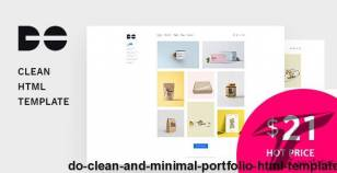 Do - Clean and Minimal Portfolio HTML Template By themantiko