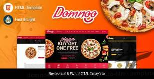 Domnoo - Restaurant & Pizza HTML Template By rewebsotech