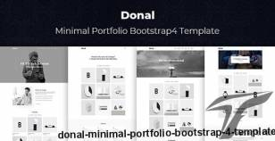 Donal - Minimal Portfolio Bootstrap 4 Template By hastech