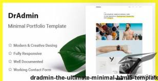 Dradmin - The Ultimate Minimal HTML5 Template By bootstrapdevelop