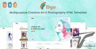 Dye - Multipurpose Creative Shop Art & Photography HTML Template By themetidy
