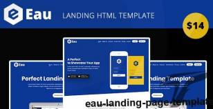 Eau - Landing Page Template By mital_04