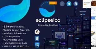 Eclipseico - Bitcoin And Crypto Currency HTML Template By perletheme