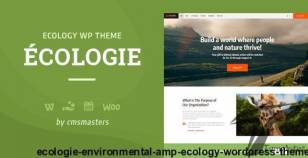 Ecologie - Environmental & Ecology WordPress Theme By cmsmasters