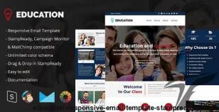 Education - Responsive Email Template + StampReady Builder