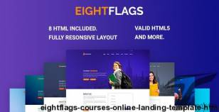 EightFlags - Courses Online Landing Template HTML By jeriteam