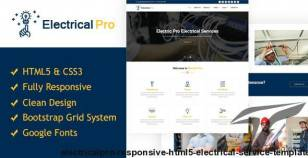 ElectricalPro - Responsive HTML5 Electrical Service Template By sbtechnosoft