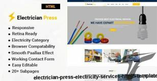 Electrician Press - Electricity Services HTML5 Template By template_path