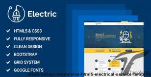 ElectricShop - Responsive HTML5 Electrical Service Template By sbtechnosoft