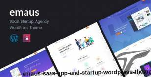 Emaus | SaaS App and Startup WordPress Theme By deothemes
