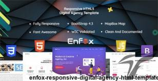 Enfox - Responsive Digital Agency HTML Template By lorestani_me