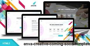 Enva - Creative Coming Soon Template By envalab